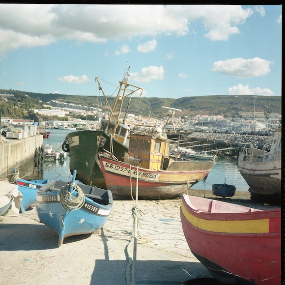 old fishing boats in sesimbra