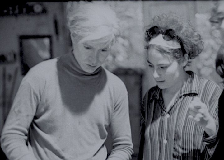 Barbara Rubin and Andy Warhol