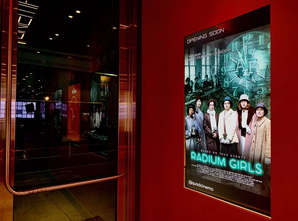 Radium Girls poster in Quad NYC